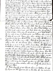 Copy of the deed. The original is in Goshen, N.Y.