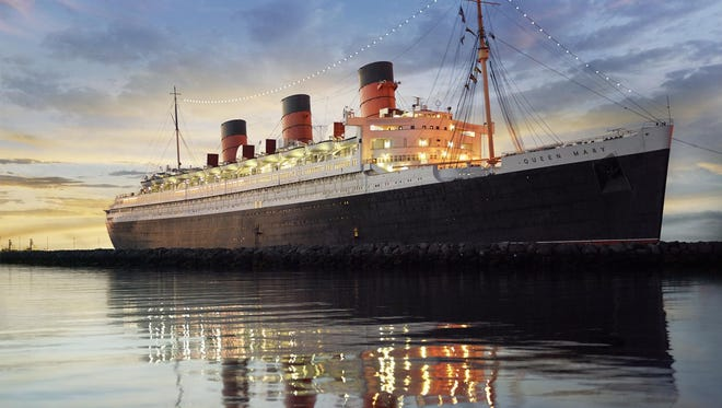 The Queen Mary is moored in Long Beach, California, where it has been since 1967.