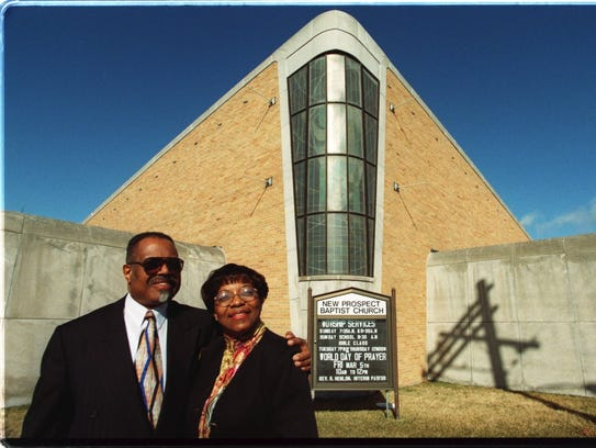 Dr Charles Adams and Rev. Wilma R. Johnson at New