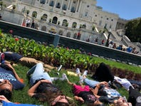 Two years after the Orlando shooting, young activists hold a die-in on the Capitol lawn