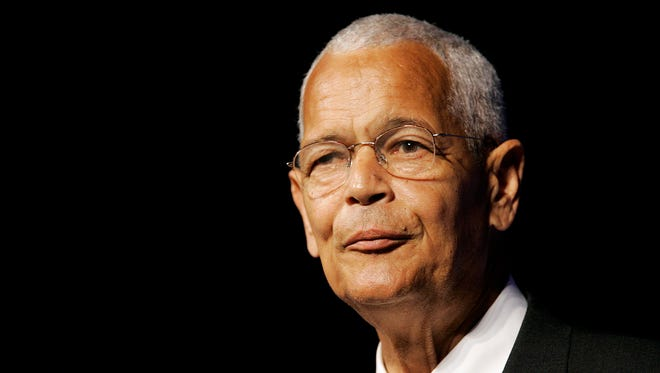 This July 8, 2007, file photo shows NAACP Chairman Julian Bond addressing the civil rights organization's annual convention in Detroit.