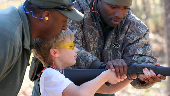 Participants in the Mississippi Wildlife Federation Youth Squirrel Hunt learn how to safely handle firearms and participate in an afternoon of squirrel hunting.