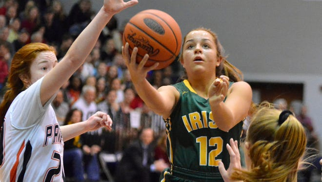 York Catholic's Kate Bauhof will miss part of her senior season with a torn ACL, suffered during an AAU game last Friday.