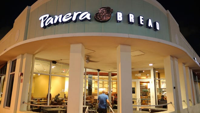 A Panera Bread in Phillipsburg, N.J., is being investigated as a possible source of E. coli exposure, according to media reports. Six cases of E. coli infection were announced Thursday, April 5, 2018. Here, a Panera Bread in Miami Beach, Fla.