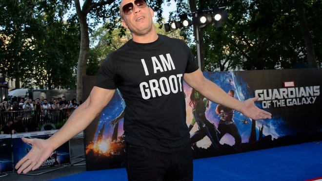 U.S actor Vin Diesel arrives for the European Premiere of Guardians Of The Galaxy at a central London cinema, Thursday, July 24, 2014. (Photo by Jonathan Short/Invision/AP) ORG XMIT: LJS112