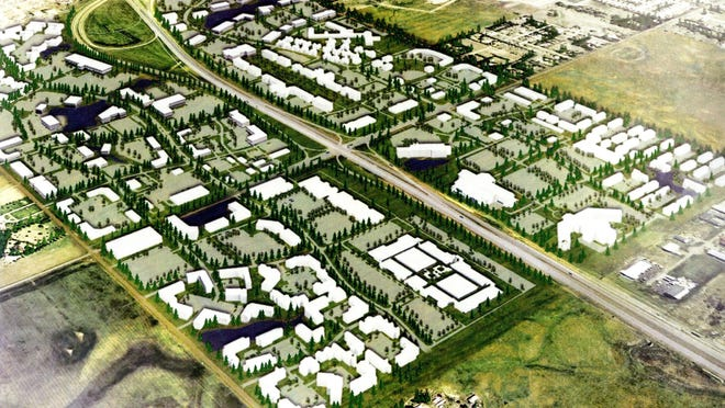 A rendering of a proposed interchange at 85th Street and Interstate 29.