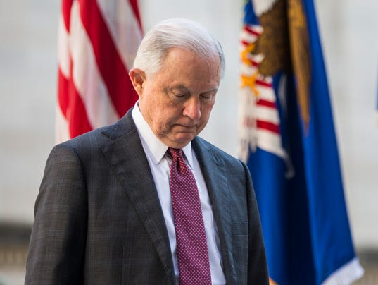 AG Jeff Sessions Holds Vigil Ceremony To Mark Anniversary Of 9/11 Attacks