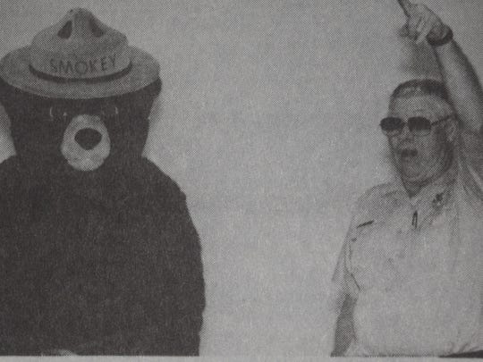Smokey the Bear was a special visitor during fire prevention