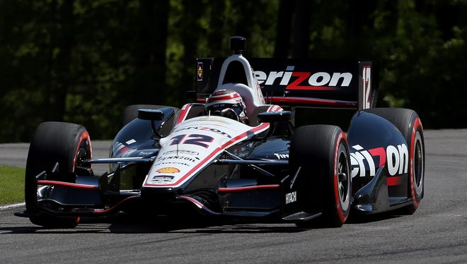 Will Power will start from the pole Sunday in Birmingham, Ala.