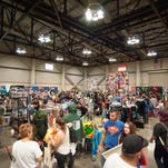 Attendees of Lafayette's first Comic-Con mingle and shop at the Cajundome Convention Center Saturday.
