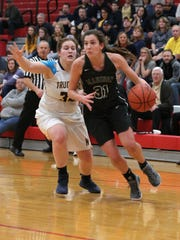 Madison's Kari Eckenwiler makes her way to the basket