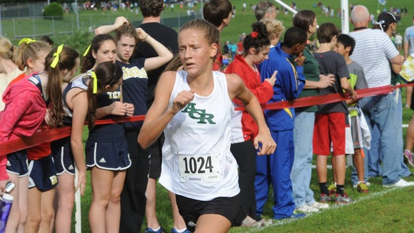Reynolds sophomore Anna Vess, pictured during the 2013 cross country season.