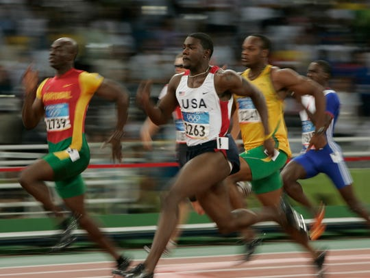 Justin Gatlin won the 100 in Athens in 2004, pre-Usain