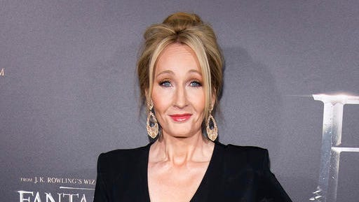 "FILE - In this Nov. 10, 2016 file photo, J. K. Rowling attends the world premiere of ""Fantastic Beasts and Where To Find Them""  in New York. The stage play ""Harry Potter and the Cursed Child"" has become London's theater event of the year. Producers hope Broadway will shortly be under its spell, too. Talks are underway to bring the show to The Lyric Theatre by the spring of 2018."