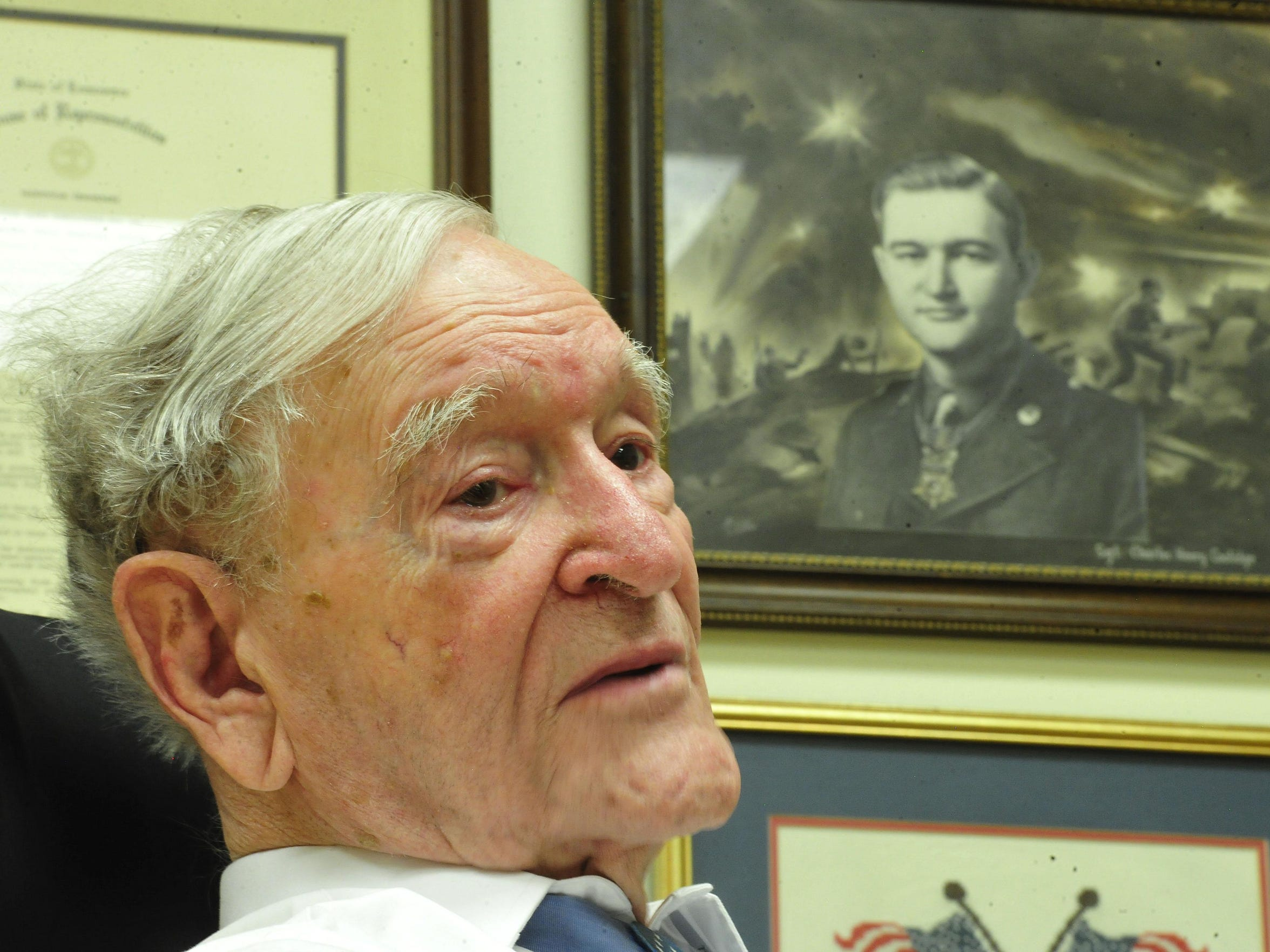 World War II veteran Charles H. Coolidge is the only