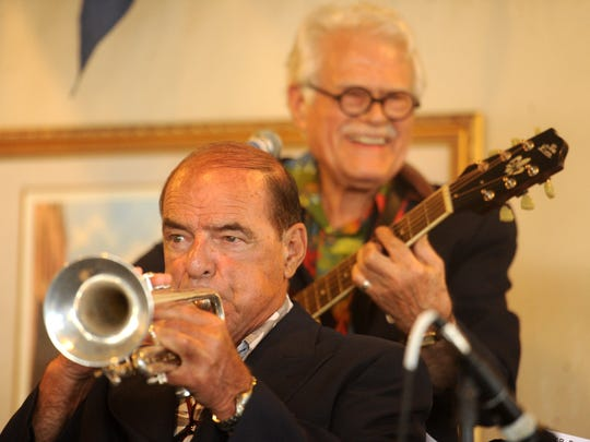 ROB VARELA/THE STARMembers of the Ulysses Jasz Band, including Bob Couto(front) and Alex Marshall, performs for the Channel Cities Jazz Club at the Pacific Corinthian Yacht Club in Oxnard Sunday. 8/25/16 Oxnard, Ca
