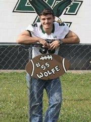 Tyland Wolfe, 18, a recent graduate of Grape Creek