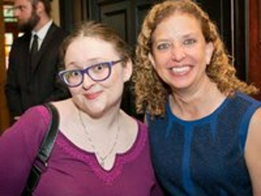 Amanda Kruel with ousted DNC Chairwoman