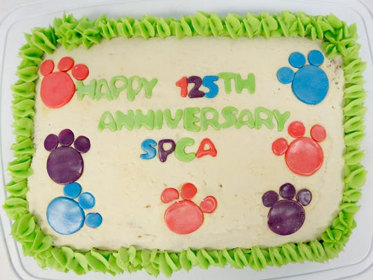 A cake was made in honor of the Chemung County Humane Society and SPCA's 125th year of operation.
