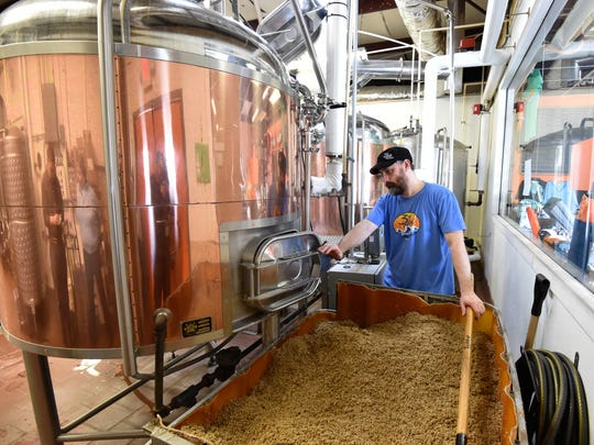 Todd Bloxom, a cellarman with 3rd Wave Brewing Co.