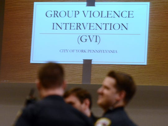 "City, state and federal officials, as well as community members, prepare for the first Group Violence Intervention initiative ""call-in"" at Stillmeadow Church of the Nazarene's York City campus on Chestnut St., Tuesday, Feb. 21, 2017. John A. Pavoncello photo"