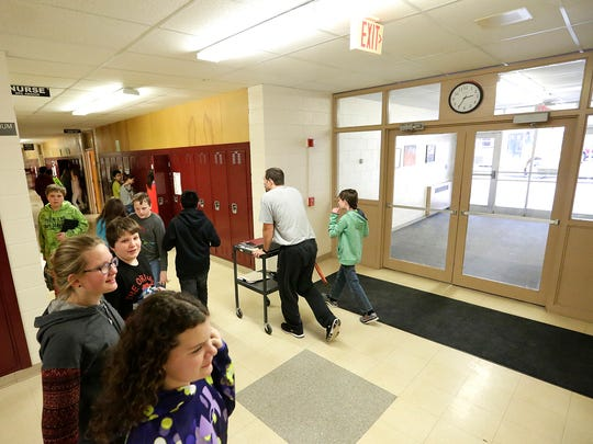 A classroom adjacent to the main entrance at Bessie Allen Middle School will become the new office if a referendum is voted in for the North Fond du Lac School District this spring. Doug Raflik/USA TODAY NETWORK-Wisconsin