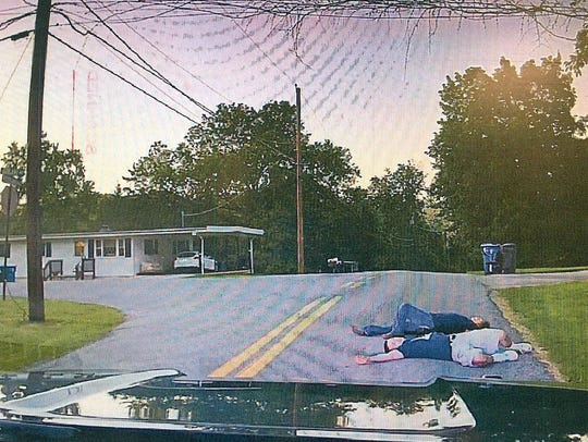 Newberry Township Police said this couple was too snockered