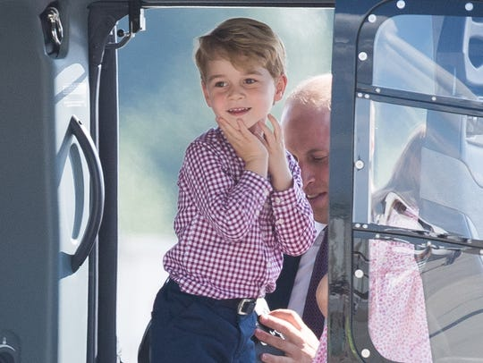 Prince George couldn't contain his excitement checking