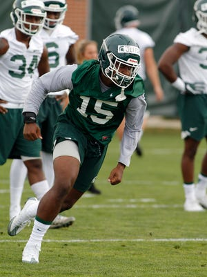 MSU freshman running back La'Darius Jefferson is one of the more intriguing players on the Spartans' roster.