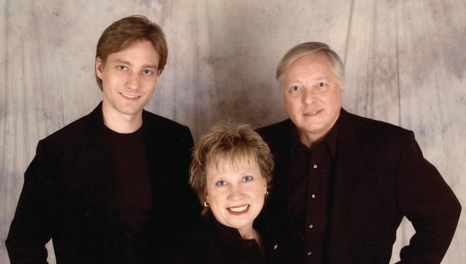 Manitowoc native Garth Neustadter, left, who in 2011 won a Primetime Creative Arts Emmy Award, will join his parents, Kris and Gary, pictured, for a performance Dec. 12 at the Capitol Civic Centre in Manitowoc.