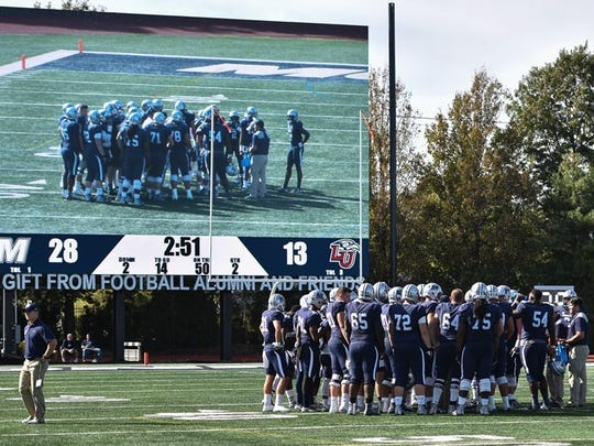 Kessler Stadium's new video scoreboard was unveiled two weeks ago when Monmouth hosted Liberty.