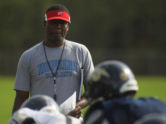St. John Paul II football coach Kez McCorvey, a former