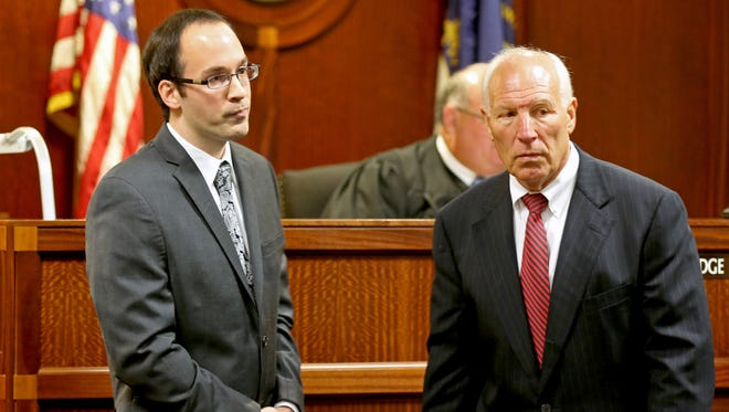 Former Xavier assistant women's basketball coach Bryce McKey appeared in Kenton County Circuit Court in September with his lawyer, Harry Hellings. He is accused of  inappropriately touching a player. The hearing was postponed because Judge Grothaus has a third cousin married to Brian Neal, head coach of Xavier women's basketball.
