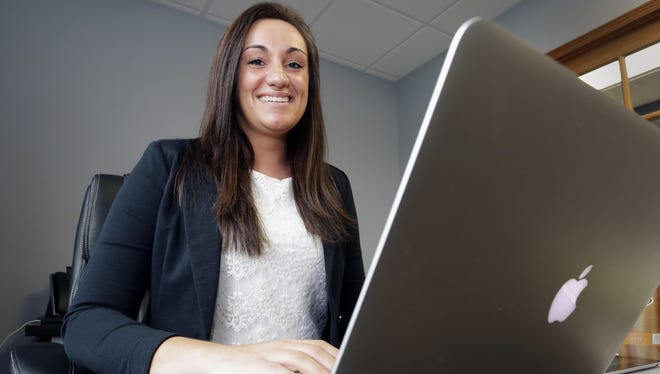 Lexie Greenheck will be a lead project manager at Sun Graphics in Plymouth, where she's currently an intern, after graduating in May from Lakeland College.