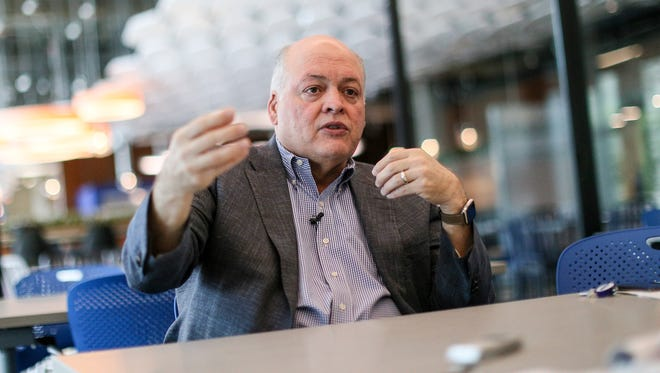 Jim Hackett is the CEO of Ford Motor Company and is photographed at Ford World Headquarters in Dearborn in June 2017.