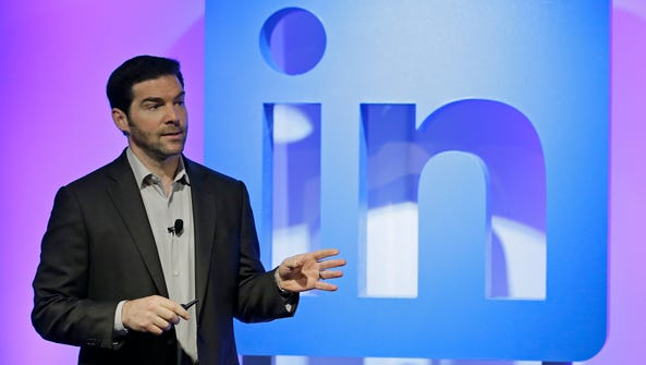 In this Sept. 22, 2016 file photo, LinkedIn CEO Jeff