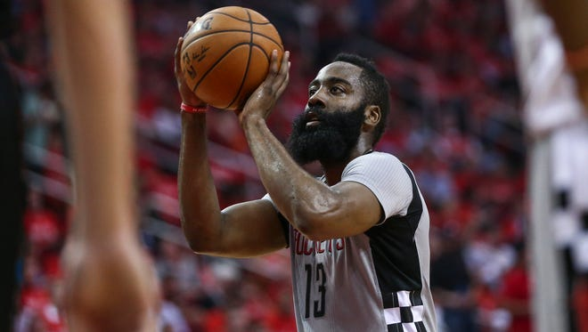 The Rockets' James Harden is named in a lawsuit from Moses Malone Jr.