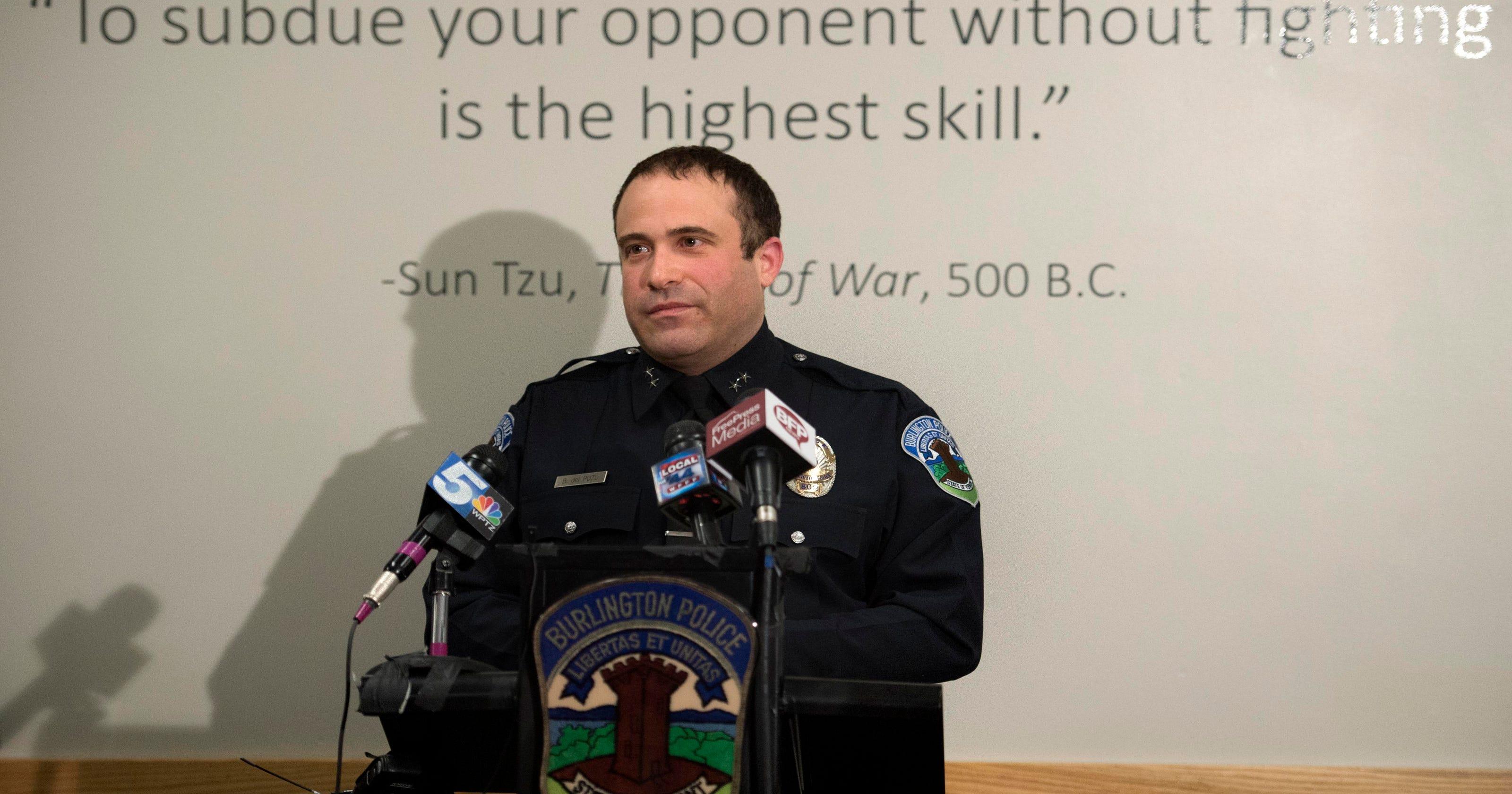 Burlington police Chief Brandon del Pozo on viral opioid