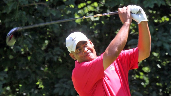 Patrick Pierson of Nyack is leading the Senior Blue Division of the Rockland County Amateur at Spook Rock Golf Course in Suffern after the first round.