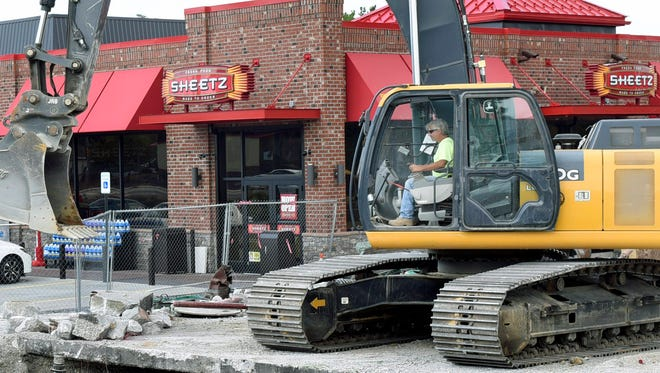 Work continues Wednesday, September 7, 2016 at the new Sheetz at 1315 Lincoln Way East, Chambersburg. The old store was demolished while the new place is open 24 hours for business.