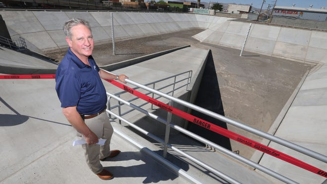 Alan Shubert, El Paso Water Utilities vice president of operations and technical services, shows the new $11 million Magnolia pump station at Texas and Magnolia streets.