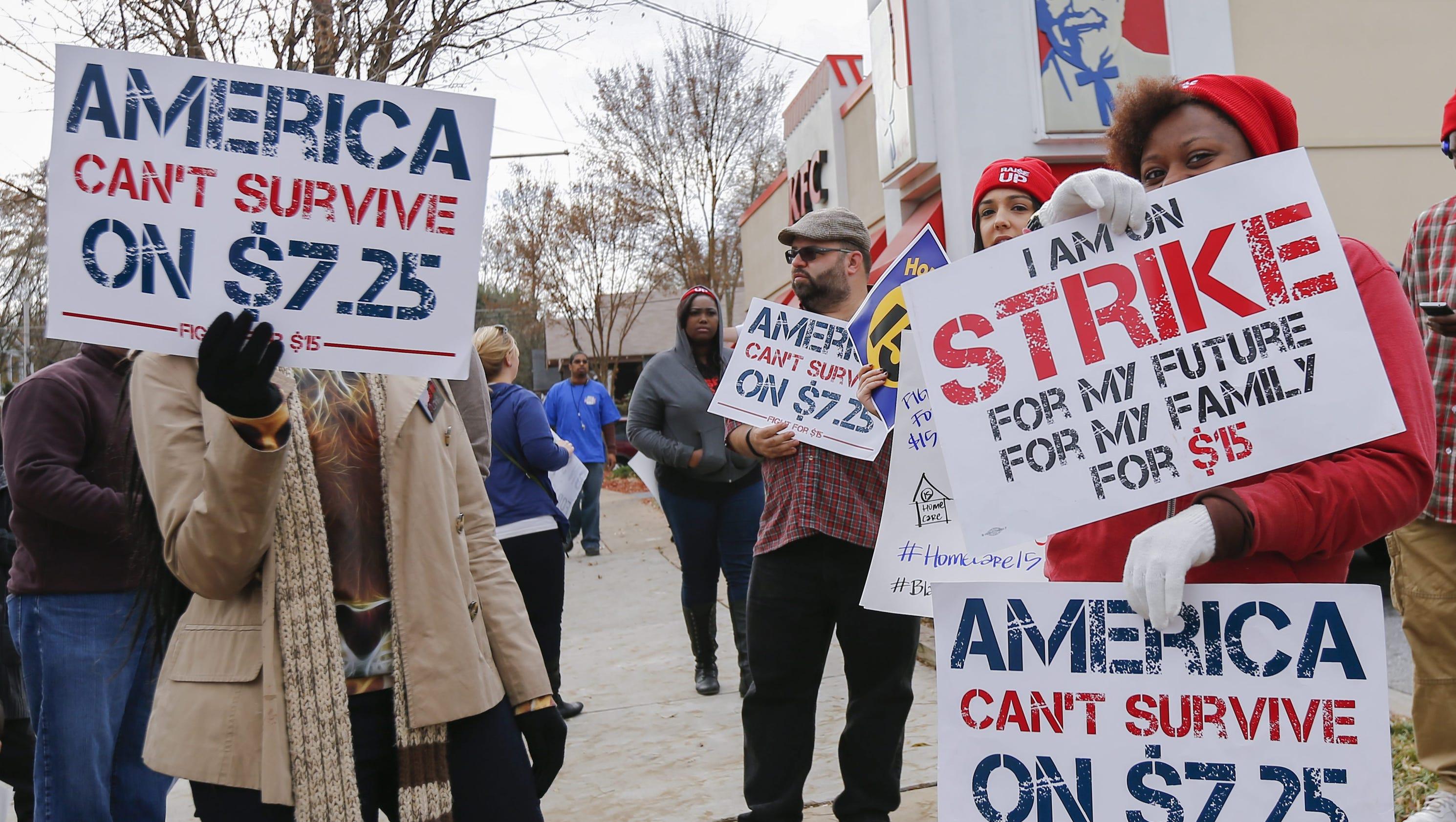 Minimum Wage Strike Fast Food