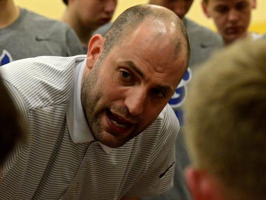 Goodpasture coach Adam Sonn instructs his team during