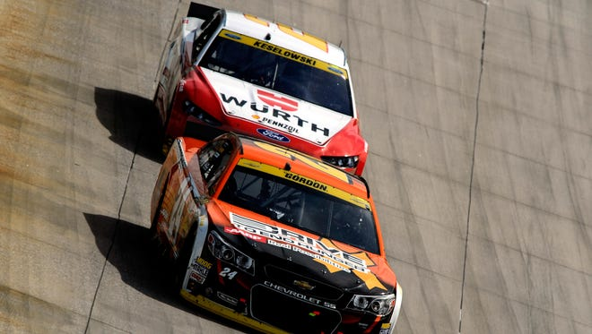 Jeff Gordon and Brad Keselowski finished first and second, respectively, Sunday at Dover.