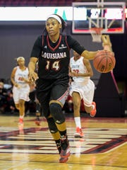 UL forward Adrienne Prejean (14) is one of the unsung heroes for the Ragin' Cajun women's team this season.