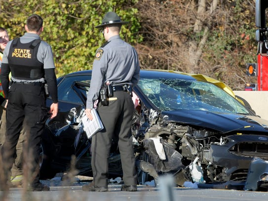 On Thursday, Nov. 16, 2017, York County District Attorney ruled state police Trooper Wesley Johnson was justified fatally shot a fleeing driver who was dragging Johnson with his vehicle along I-83 on Nov. 15, 2016. (Bill Kalina photo)
