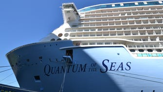 Royal Caribbean's Quantum of the Seas under construction at the Meyer Werft shipyard in Papenburg, Germany.
