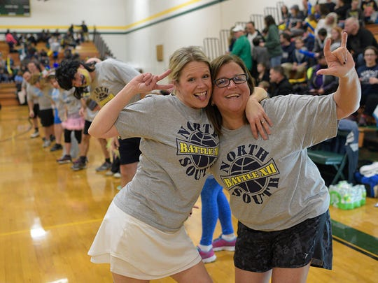 Whitney Tyner and Debbie Calanchi pose for a photo