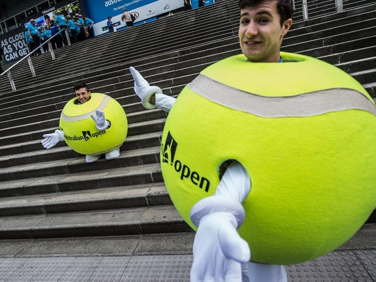Australian Open entertainers welcome fans on the first