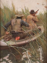 """Duck Hunters"" by Philip R. Goodwin (1881-1935). Estimated"